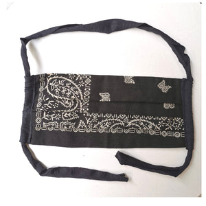 BLACK USA BANDANA REDONE MASK M/L