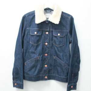 CONVERTIBLE INDIGO WRANGLER DENIM TRUCKER XS