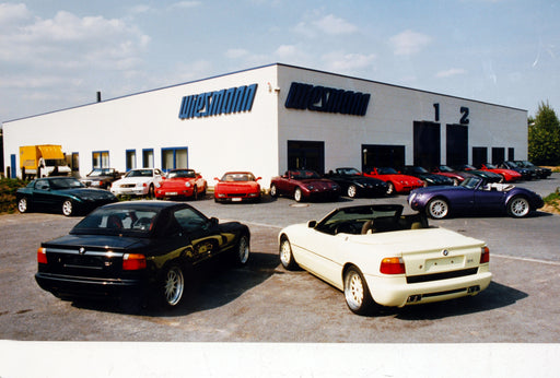 1990 -Wiesmann moves into Telgenkamp, the company's first dedicated factory. Production begins on the MF3 Roadster.