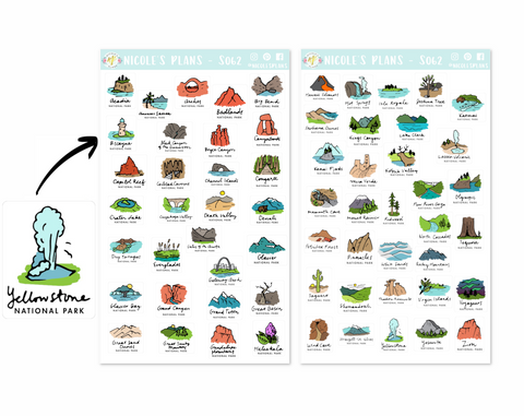 National Park Stickers