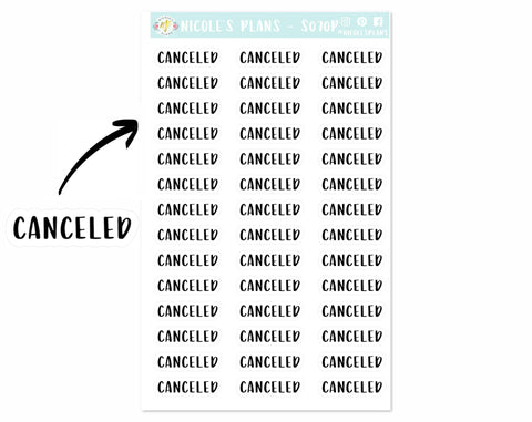 Canceled Print Stickers