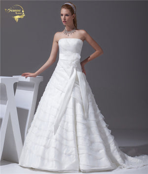 Organza, A-Line Wedding Dress