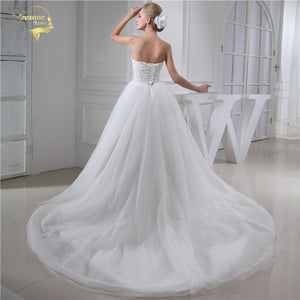 Soft Tulle Sweetheart Wedding Dress