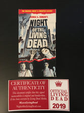 Load image into Gallery viewer, Copy of Classic Night of the Living Dead VHS Tape with Authentic Autograph V3