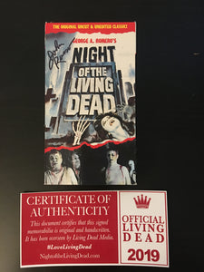 Copy of Classic Night of the Living Dead VHS Tape with Authentic Autograph V3
