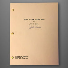 Load image into Gallery viewer, Autographed Night of the Living Dead Script (75% OFF)