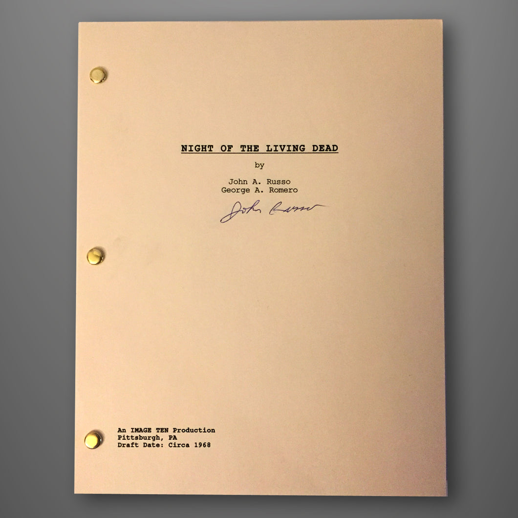Autographed Night of the Living Dead Script (75% OFF)