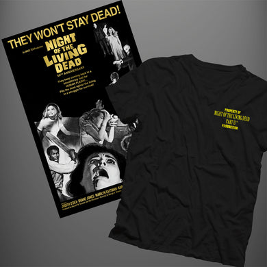Night of the Living Dead Crew Bundle: T-shirt + Poster