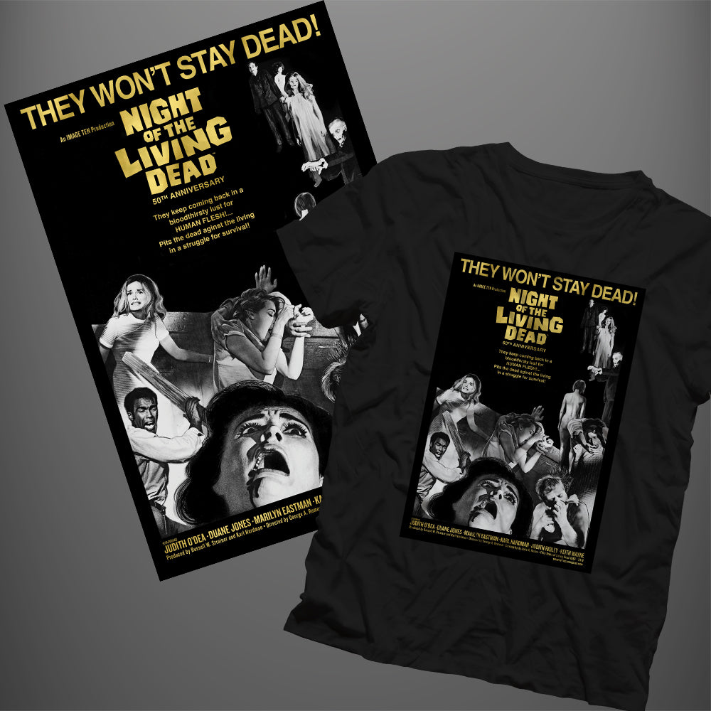 They Won't Stay Dead - Bundle: T-shirt + Poster