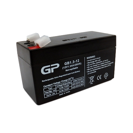 GP1213 SEALED LEAD ACID BATTERY (12V 1.3AH)