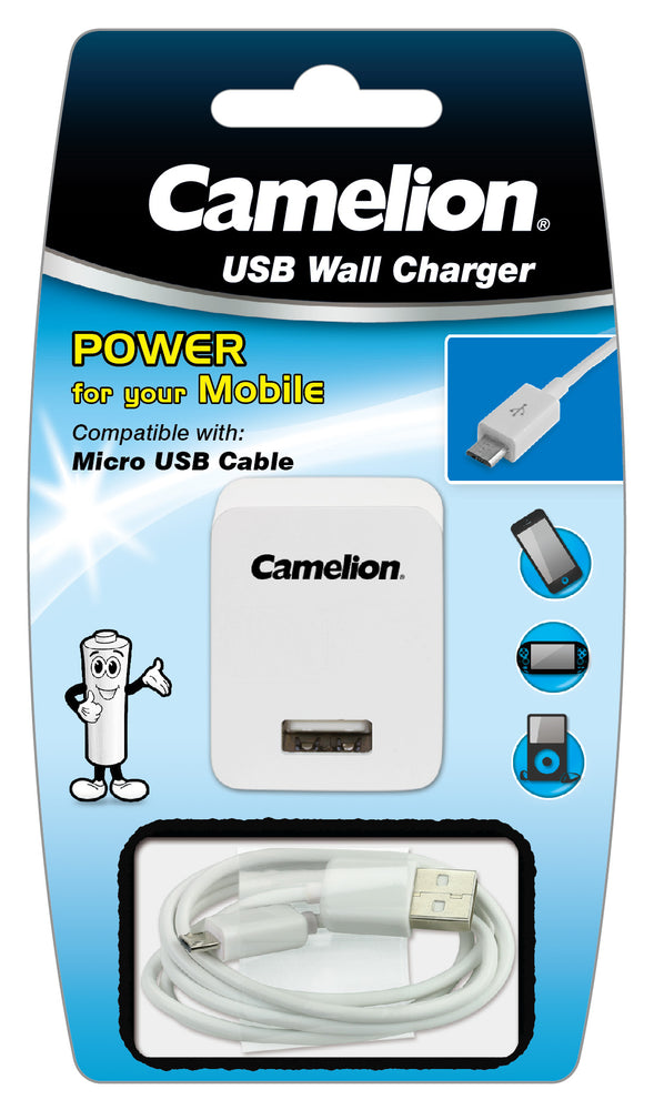 Camelion Micro USB C cable with Wall Plug