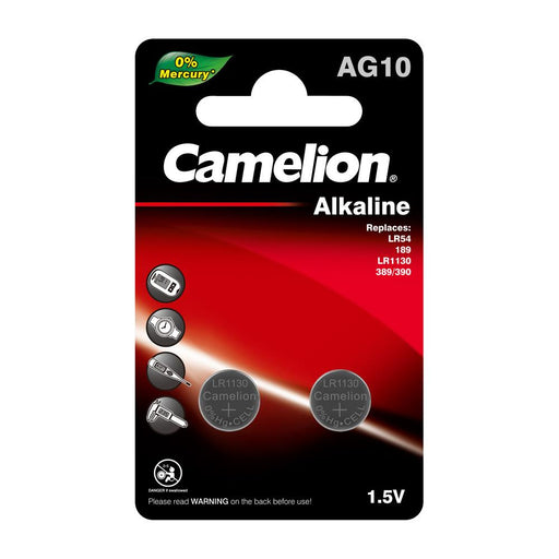 Camelion AG10 / 389 / LR1130 1.5V Button Cell Battery