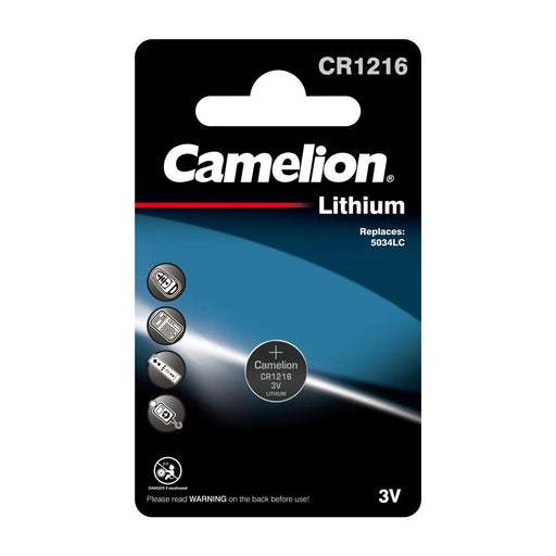 Camelion CR1216 3V Lithium Coin Cell Battery