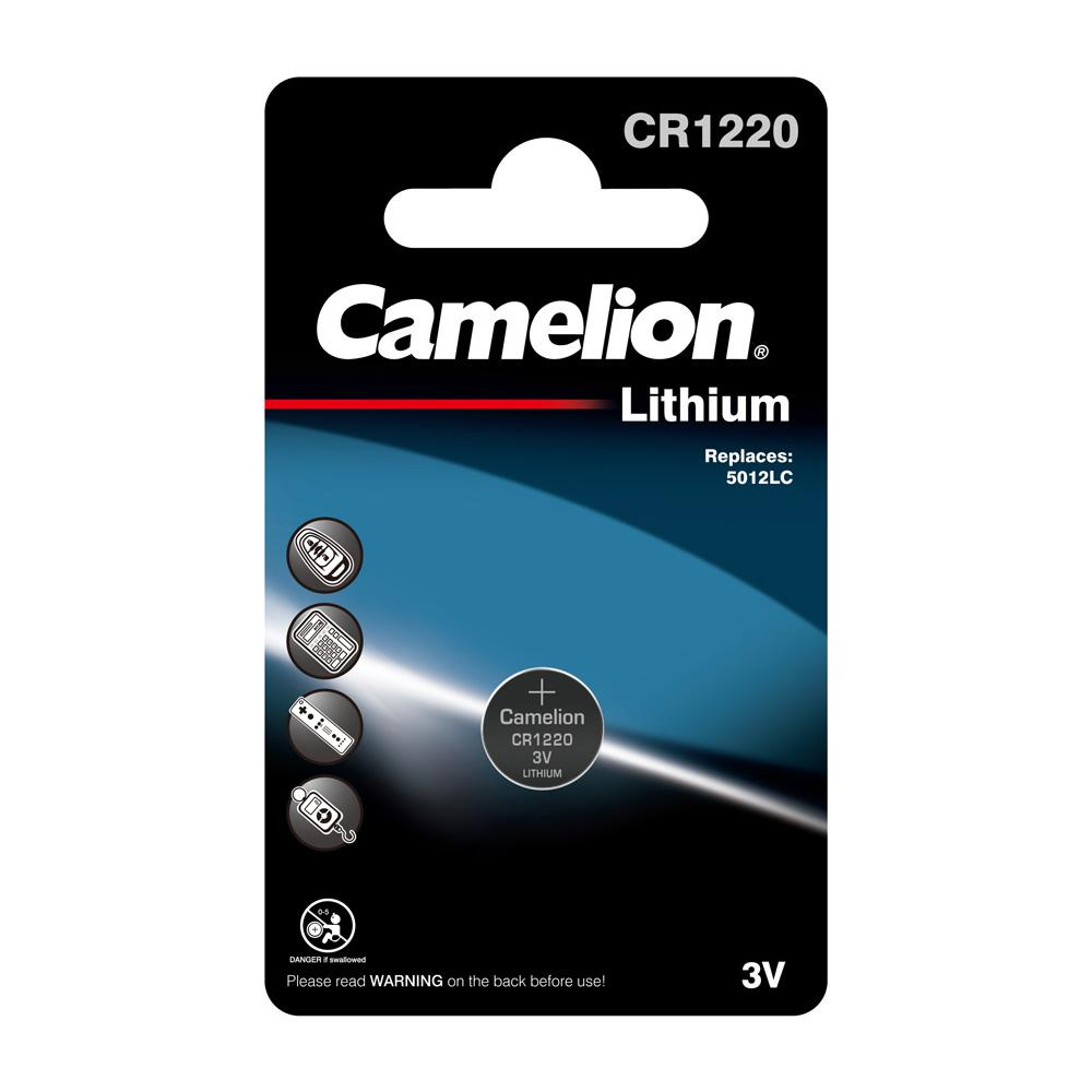 Camelion CR1220 3V Lithium Coin Cell Battery