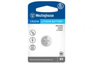 Westinghouse CR2016 3V Lithium Button Cell 1pk