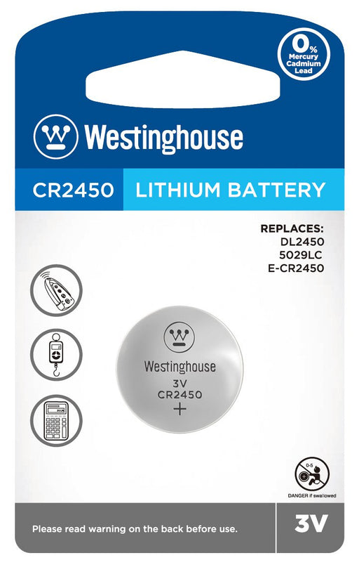 Westinghouse CR2450 3V Lithium Coin Cell Battery