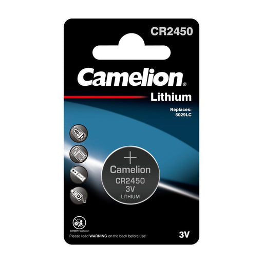 Camelion CR2450 3V Lithium Coin Cell Battery