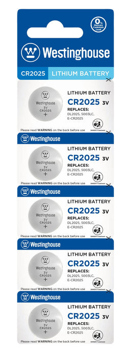 Westinghouse CR2025 3V Lithium Coin Cell Battery