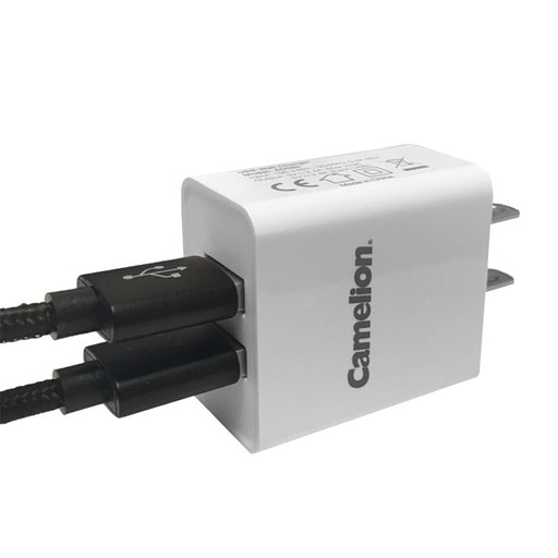 Camelion Dual USB Wall Charger 2.4A (Bulk)