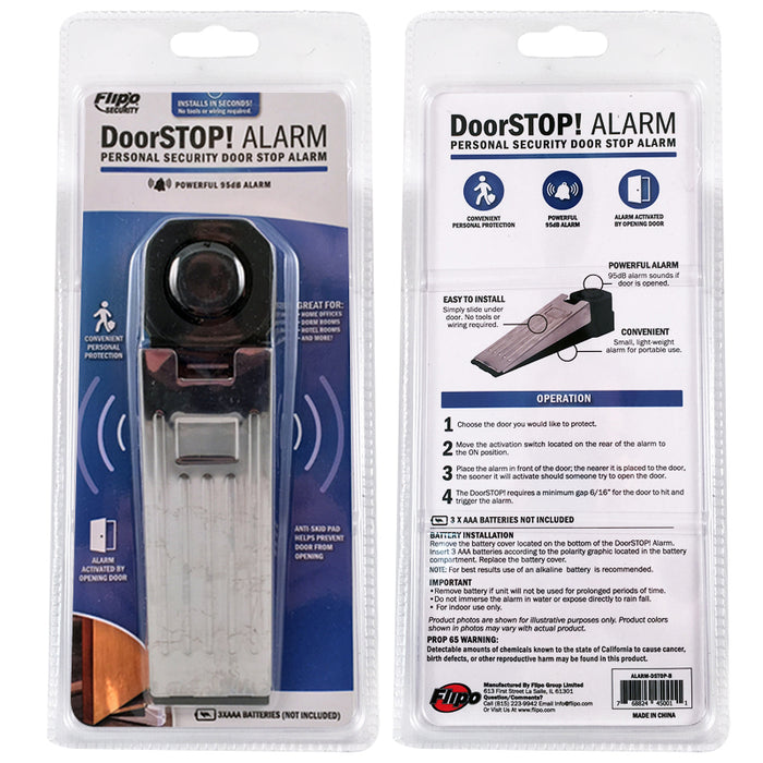 DoorSTOP! Alarm - Personal Security Door Stop Alarm