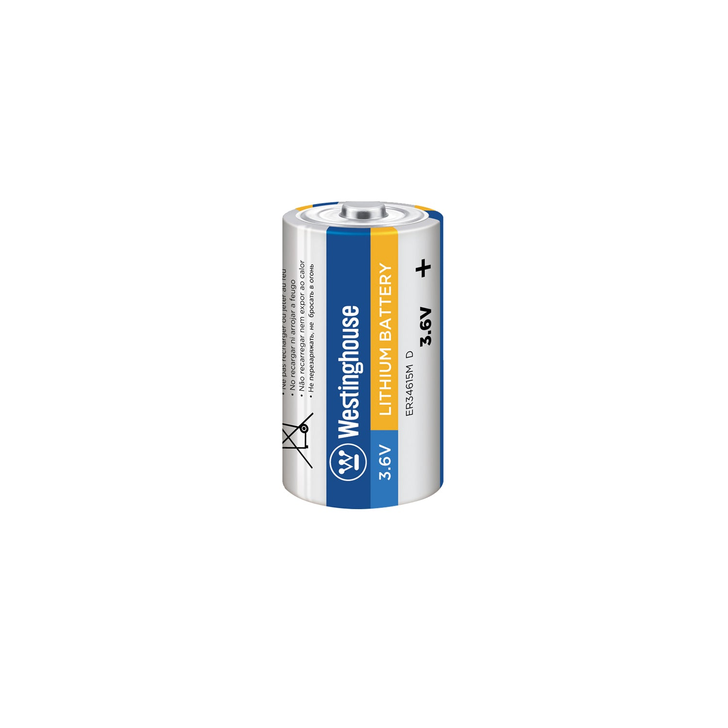 ER34615 D size 3.6V Lithium Primary Battery for Specialized Devices Bulk