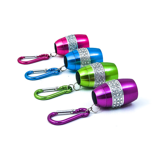 Bling Flashlight With COB LED Light - 24 PC Display