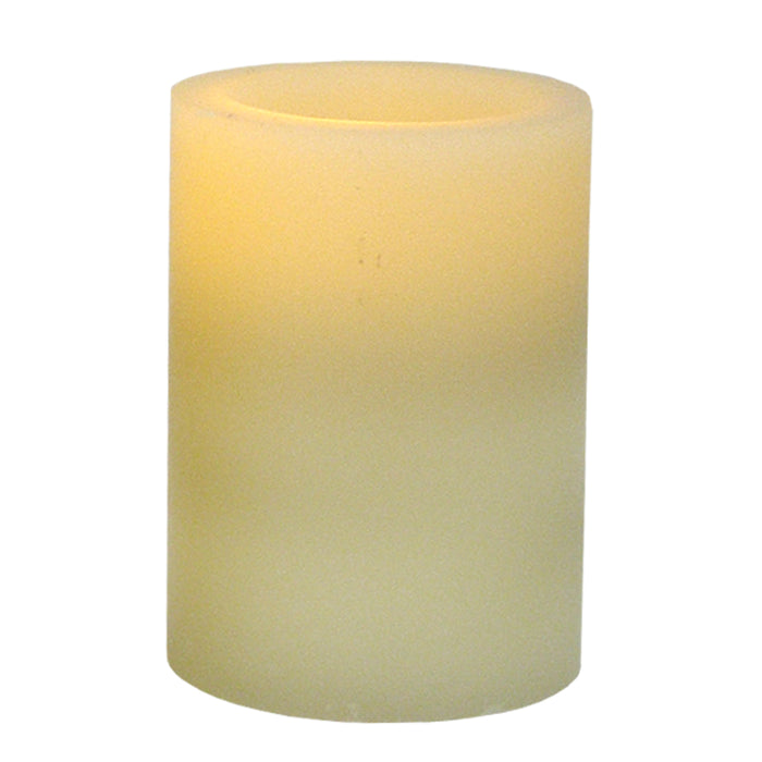 Flameless 3 x 4 Flat Top Wax Pillar Candle
