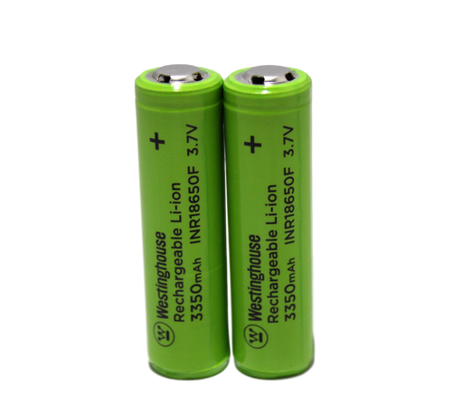 Westinghouse 18650 Li-ion 3.7V 3350mAh Protective Circuit 2pc Shrink