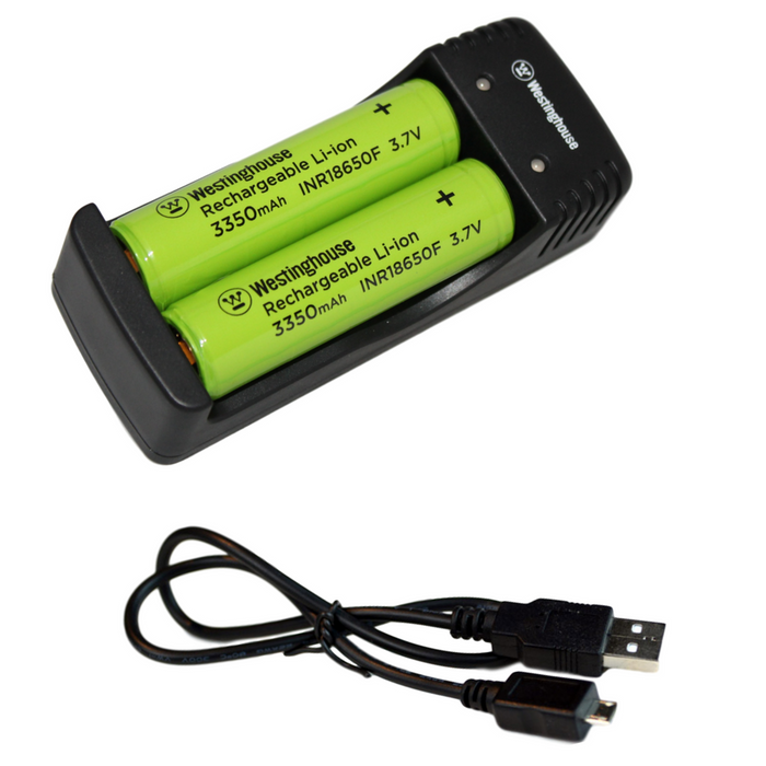 Westinghouse Two Cell USB Charger for 18650 Lithium Ion