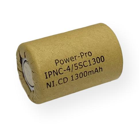 Power Pro 4/5 Sub C 1300mAh Ni-Cd Flat Top