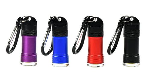 Magnetic Quick-Release Keyring Flashlight with COB LED Light 24 PC Display