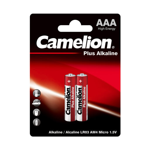 Camelion AAA Alkaline Plus Blister Pack of 2
