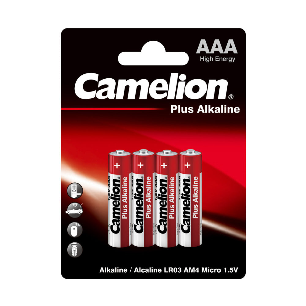 Camelion AAA Alkaline Plus Blister Pack of 4