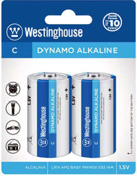 Westinghouse C Dynamo Alkaline Blister Pack of 2