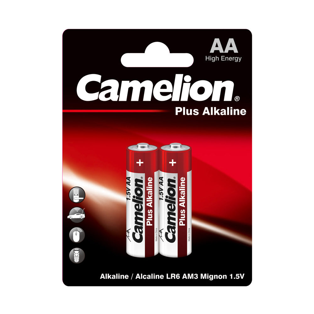 Camelion AA Alkaline Plus Blister Pack of 2