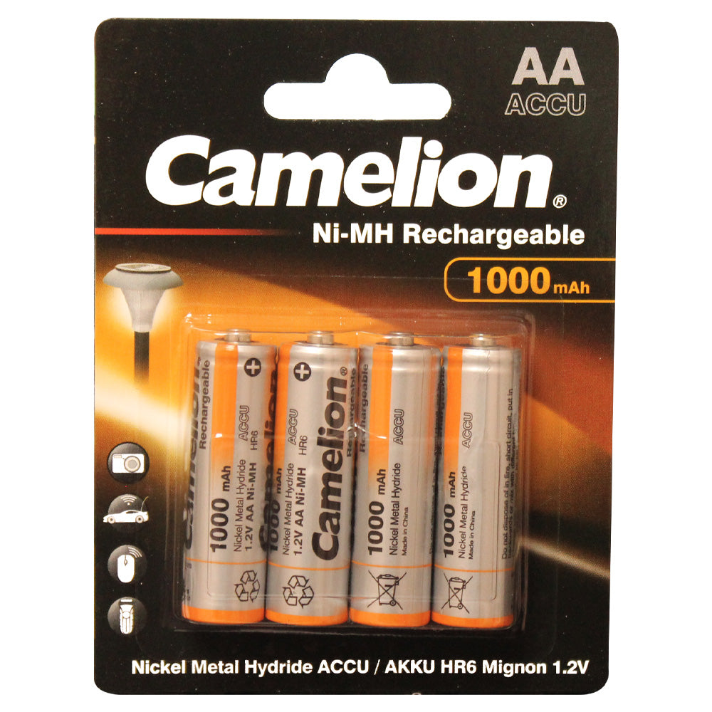Camelion AA Ni-MH 1000mAh Rechargeable 4pk Blister