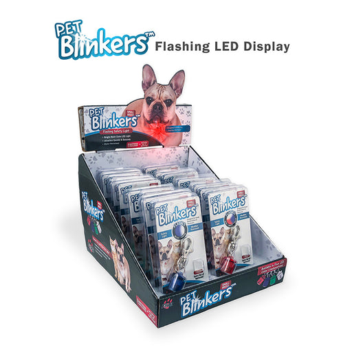 Pet Blinkers™ Flashing LED Pet Safety Light - Small Breed 20 PC Display
