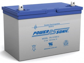 wholesale, wholesale sla, wholesale sealed lead acid, power sonic, powersonic, PS-121000, 12V 100Ah, universal terminal