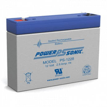 wholesale, sla, sealed lead acid, powersonic, power sonic, PS1228, 12V 2.8Ah, F1 terminal