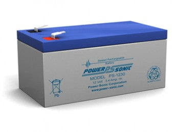 wholesale, sla, sealed lead acid, power sonic, powersonic, PS1230, 12V 3.4Ah, F1 terminal