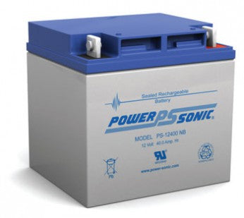 wholesale, wholesale batteries, sla, sealed lead acid, power sonic, powersonic, PS12400, 12V 40Ah, nut and bolt terminal