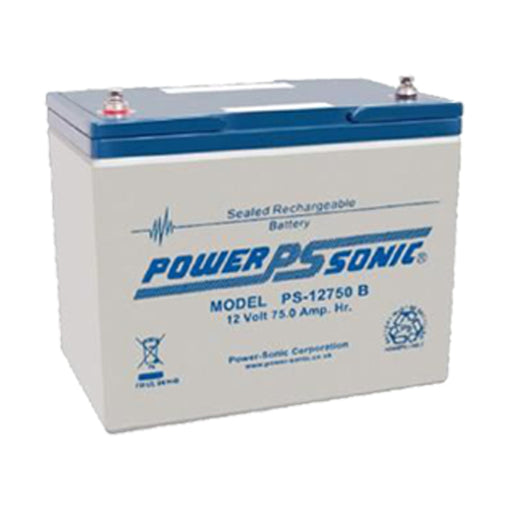 wholesale, sla, sealed lead acid, powersonic, powersonic, PS12750, 12V 75Ah, internally threaded terminal