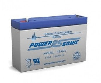 wholesale, wholesale batteries, sla, sealed lead acid, PS670, 6V, 7Ah, F1 terminal