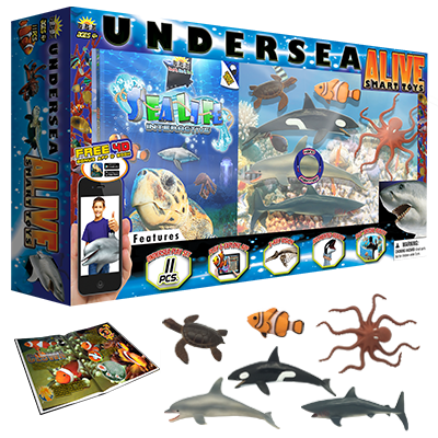 undersea, undesea toys, under sear creatures, sea animals, ocean animals, interactive smart toys, interactive toys, STEM toys, STEM learning, STEM education, educational toys, educational activities