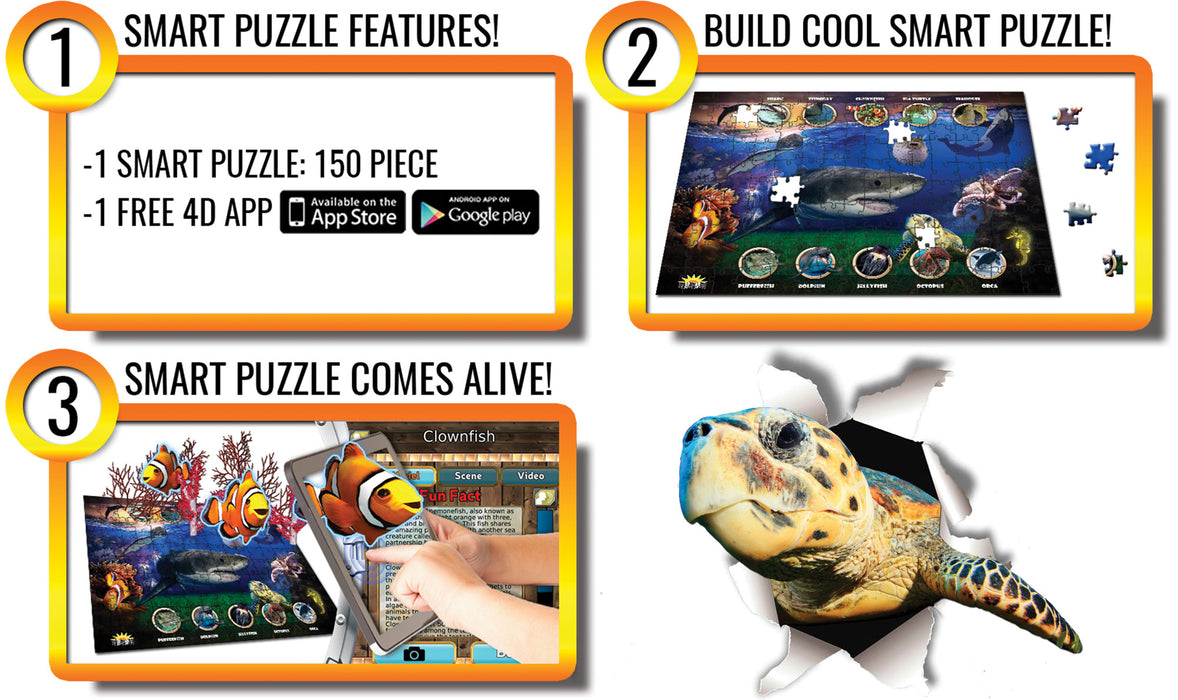 under sea, Undersea, interactive smart puzzle, interactive toys, interactive puzzle for kids, STEM, stem activities, educational, educational puzzle, educational activities