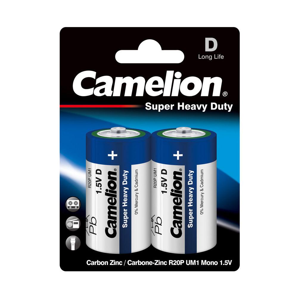 Camelion D Super Heavy Duty 2pk