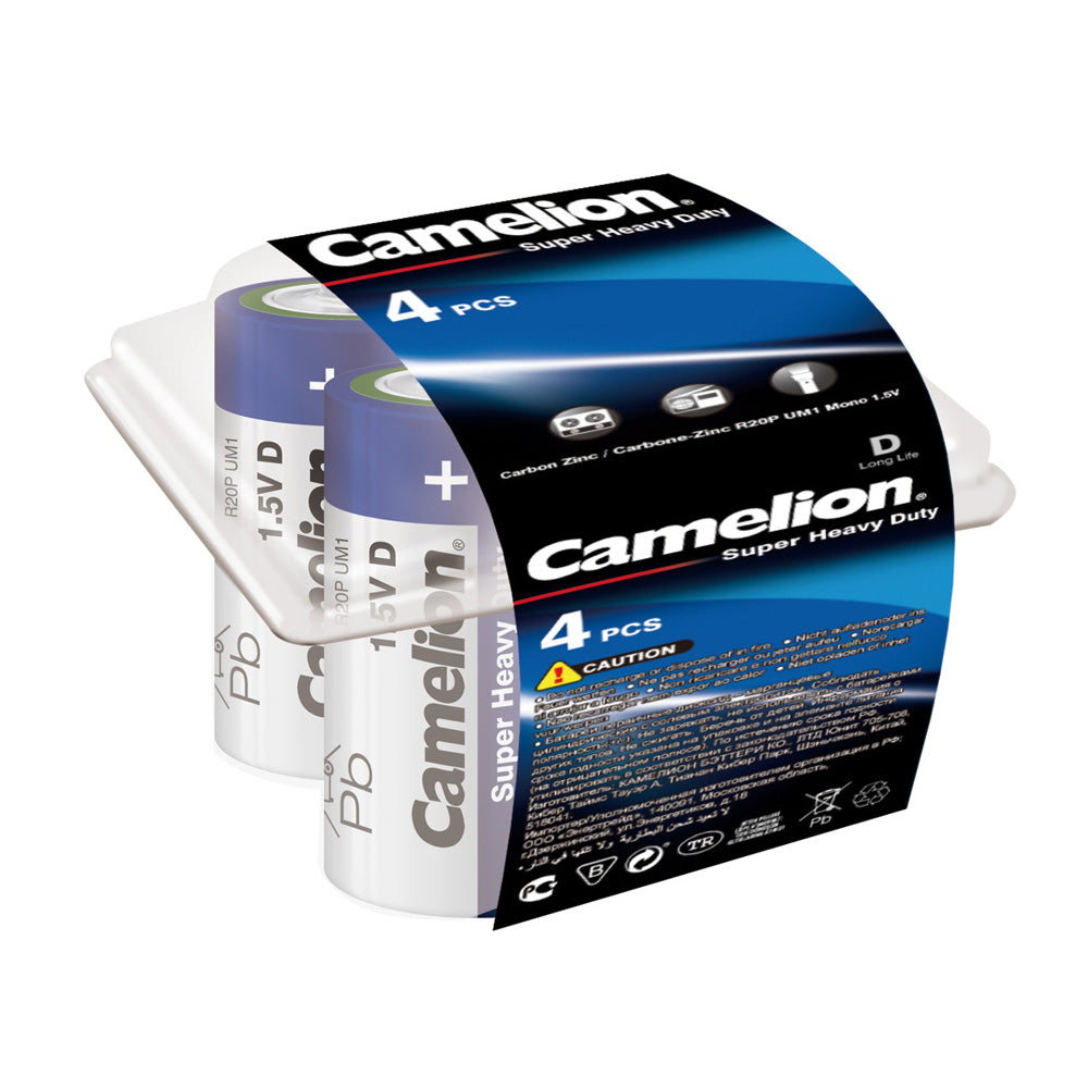 Camelion D Super Heavy Duty 4pk