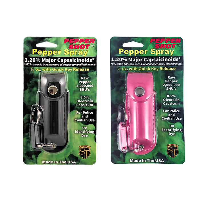 Pepper Shot .5 oz Pepper Spray with Leatherette Holder