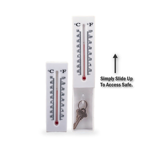 wholesale, secret safe, diversion safe, diversion thermometer, indoor, outdoor, hide a key, key hider