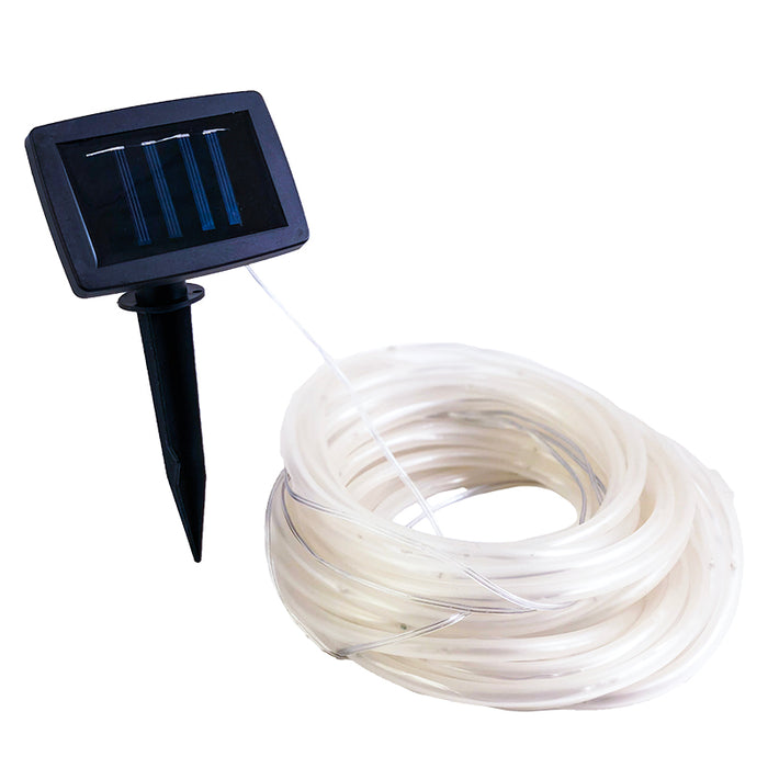 100 LED Solar Rope Lights - Bright White